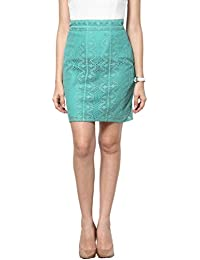 Abiti Bella Women's Green mini Lace skirt