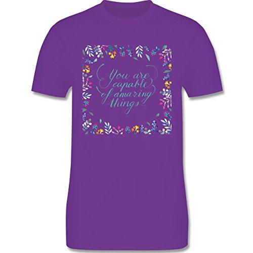 Statement Shirts - You are capable of amazing things - Herren Premium T-Shirt Lila