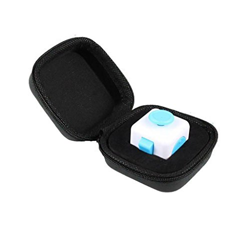 Malloom Gift For Fidget Cube Anxiety Stress Relief Focus Dice Bag Box Carry Case Packet (Black -2) - 2