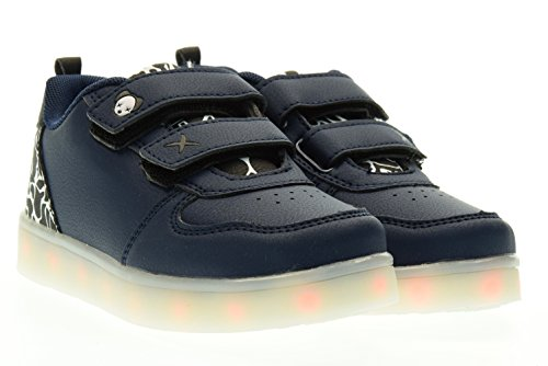 WIZE & OPE junior sneakers basse con strappo NAVY CAM BW 29 Blu
