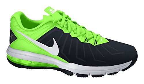 Nike Air Max Full Ride TR, Chaussures de Sport Homme, Gris Noir / Blanc / Vert fluo / Vert (Black / White-Vltg Green-Anthrct)