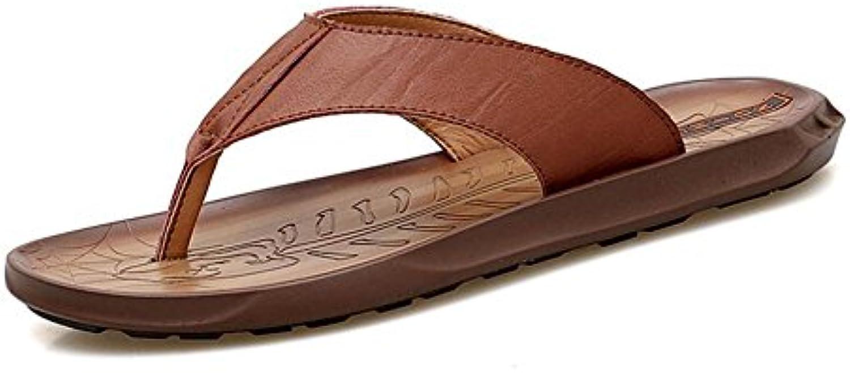 Zapatos de Hombre Zapatillas de Cuero Playa de Verano/Ocio Transpirable/Suela Ligera Zapatillas y Chanclas (Color  -
