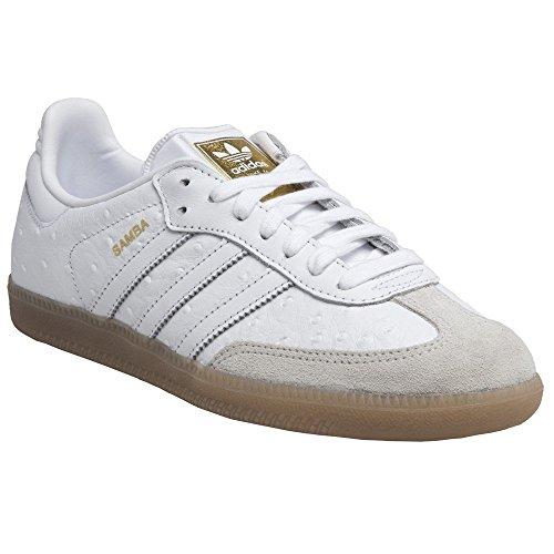 Damen Samba W BZ0619 Fitnessschuhe, Weiß (Ftwbla/Ftwbla/Dormet), 40 1/3 EU adidas