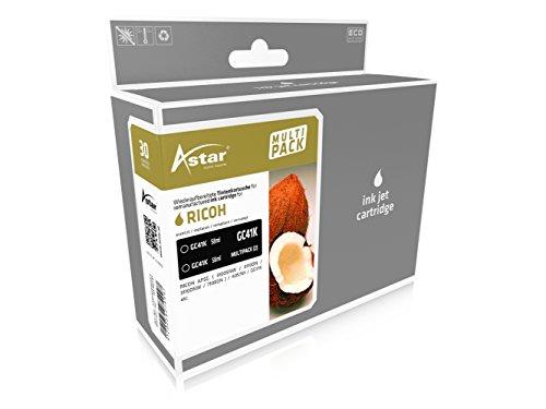 Preisvergleich Produktbild ASTAR AS46141 Tintenpatrone kompatibel zu RICOH AF SG3110DN ( 405761 ) 2x58 ml (Schwarz)