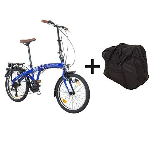 Klapprad mit Tasche Faltrad Klapp Fahrrad Camping Shimano...