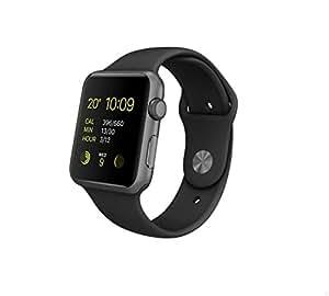 Apple Watch Sport 42 mm Aluminium Space Grey/Black 1st Generation (Old Model) Watch