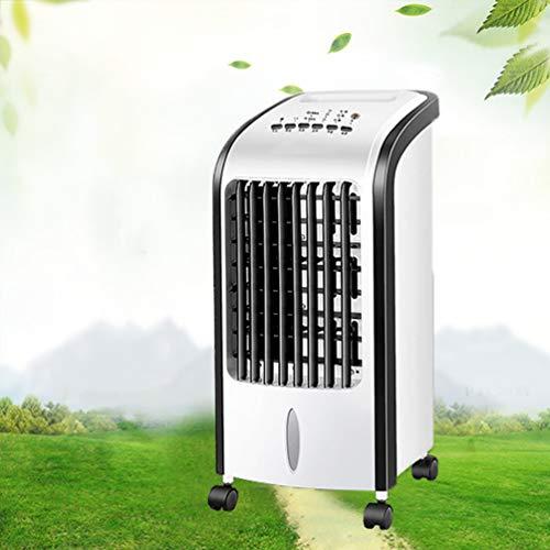 COLER Tragbarer Klimaanlage-Ventilator, Haushalts-intelligente 3 Geschwindigkeits-Fernsteuerungsverdampfungskühler mit Luftentfeuchter-Schlafsaal,Blue -