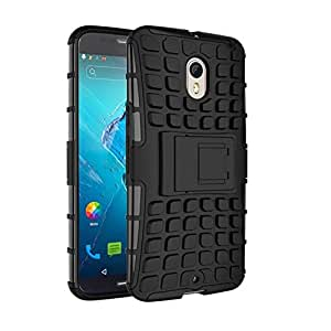 iKraft Hybrid Hard Armor Rugged Back Cover for Moto X Style - Blue