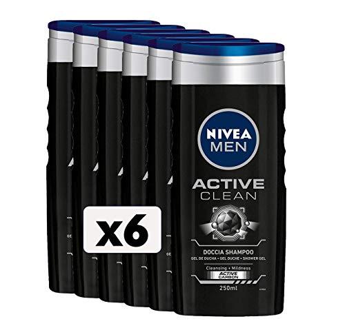 Nivea Men Active Clean Dusche, 6 Packungen à 250 ml