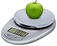 Epica TM Accupro Digital Kitchen Scale 11 lbs Capacity,Stylish Silver/Chrome-Electronic Food Scale