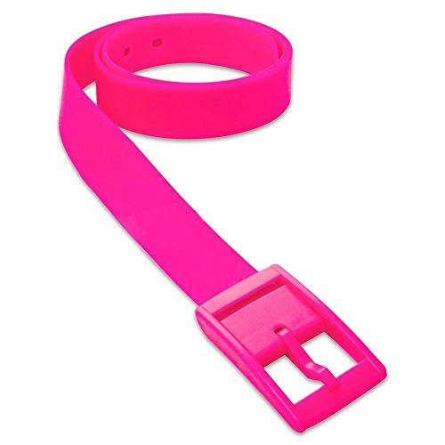 SoulCats 1 St Trendiger Gürtel aus Silikon in Vielen Farben Unisex Neon Gelb Orange Pink Blau, Farbe:Neon Pink
