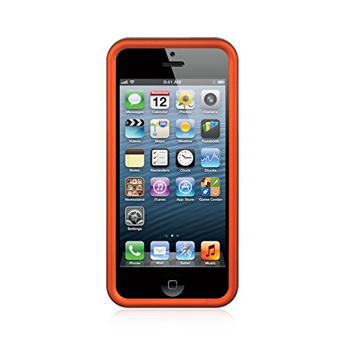 APPLE IPHONE 5 / 5S / SE CRYSTAL RUBBER CASE ORANGE-CRIP5OR