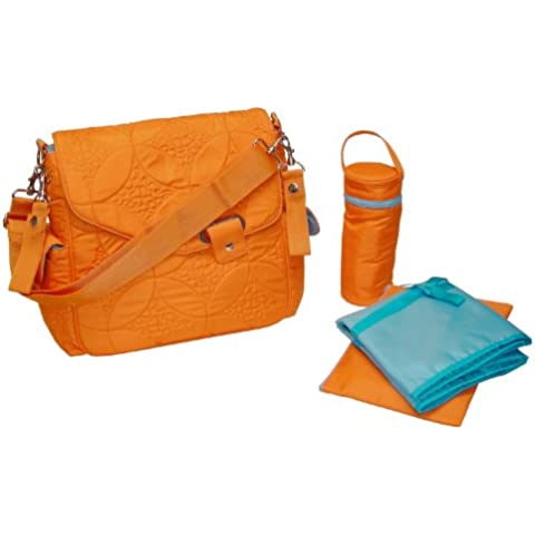 Kalencom Ozz Quilted Messenger Bag, Morocco (Orange Messenger)