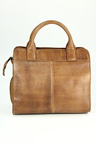 FREDsBRUDER Perfect Match Ledertasche Handtasche - Farbauswahl - 30x28x10 (B x H x T) (dusty blush (FS17)) Toffee (Braun)
