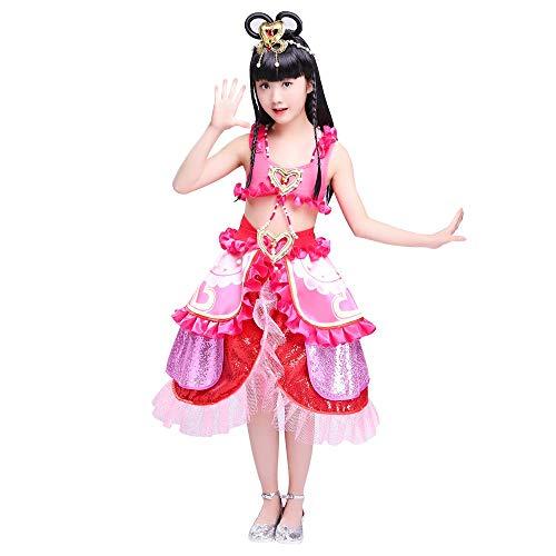 HUO FEI NIAO Tanzkostüm - Halloween Kostüm Tutu Kleid Prinzessin Kleid Mädchen Kleine Hexe Cosplay Kleidung Nettes Mädchen Kostüm (Farbe : Rosa, größe : 100cm)