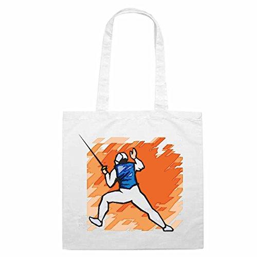 Tasche Umhängetasche Motiv Nr. 4700 Fechten Degen Mega Sports Hobby Freizeit Sport Einkaufstasche Schulbeutel Turnbeutel -