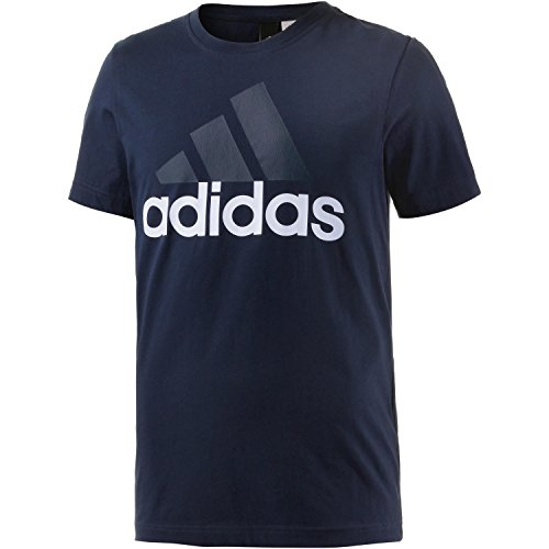 Short Sleeve Performance Raglan-t-shirt (adidas Herren Essentials Linear T-Shirt, Collegiate Navy, L)