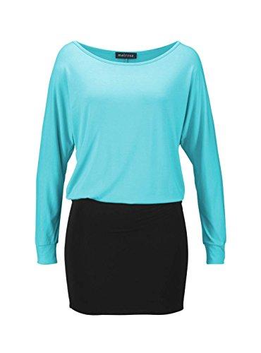 Melrose - Robe - Opaque - Femme Noir Turquoise/noir Multicolore - Turquoise/noir