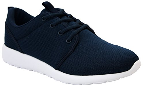 Dek Mens Womens Unisex Super Lightweight Mesh Memory Foam Lace Up Sports Running Gym Fitness Trainers Shoes - UK Sizes 3-12