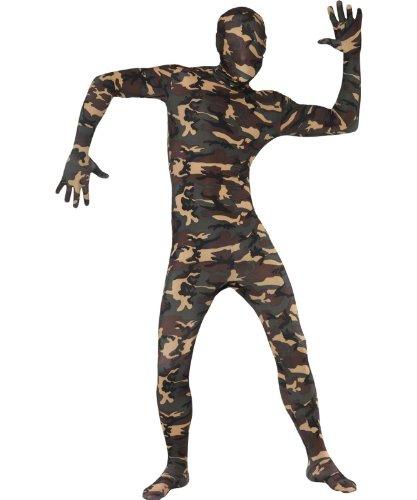 t Anzug, Camouflage mit Bauchtasche, verdeckte Fliegen und unter dem Kinn Öffnung–Groß (Scary Halloween-bäume)