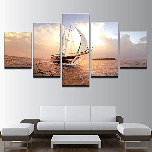 mmwin Modular HD Impreso Arte de la Lona Poster Home Decor 5...