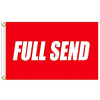 ‏‪AUMIAU Full Send Flag 3x5Ft Nelk Nelkboys for The Boys Banner, Funny Flag UV Resistant Perfect for Tailgates Dorm Room College Football Fraternities Parties Large Sporting Events Red‬‏