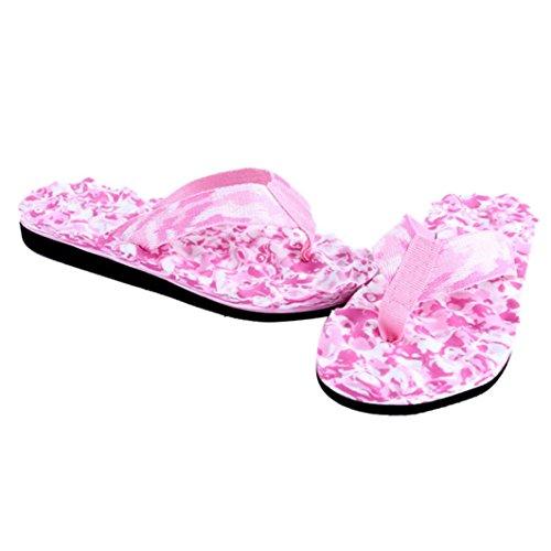 Amlaiworld Donna indoor e outdoor flip-flop pantofole per casa Rosa