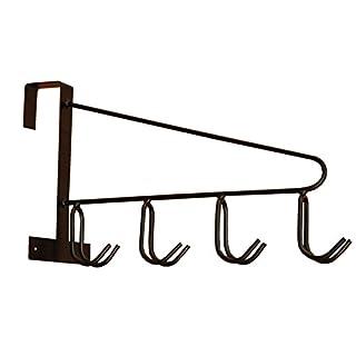 AMKA Vielzweckhaken Hakenleiste Allzweckhaken Metall 4 Fach zum Einhängen für Stall, Garten, Hof, Garage, Werkstatt