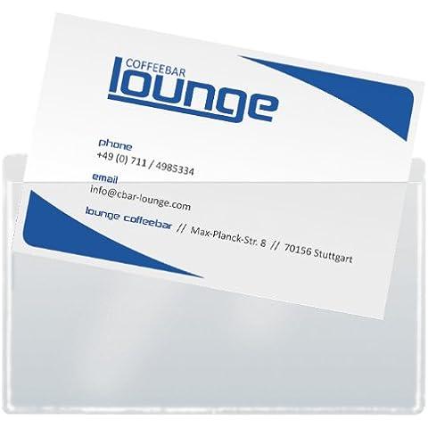 Sigel VZ115 - Bolsitas adhesivas para tarjetas de visita, transparente