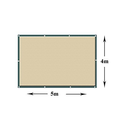 Auvent carré de voile d'ombre de Sun UV de sable pour le jardin extérieur de patio 180g / m² (taille : 4 * 5m)