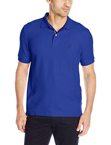 Nautica Herren Poloshirt S/S Solid Deck Shirt Classic Fit COSMIC COBALT
