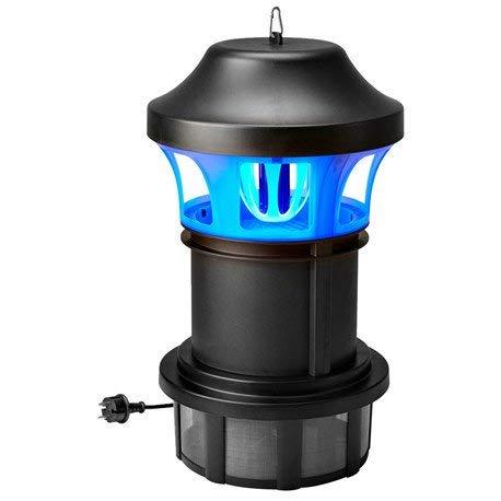 123home24.com Insektenvernichter Mit UV Licht Werden Vom Ventilator  Angesaugt 25W 55x33cm Schwarz Elektronischer Insektenvernichter  Insektenabwehr
