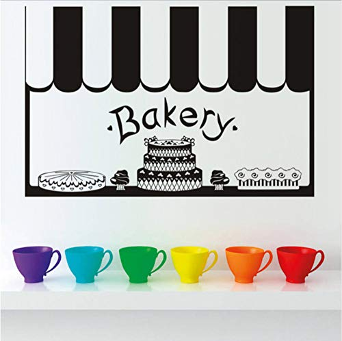 hen Bäckerei Dekor Französisch Vinyl Wandaufkleber Tapete Wandbild Dekoration Diy Küche Fliesen Wandkunst 53x35 cm ()