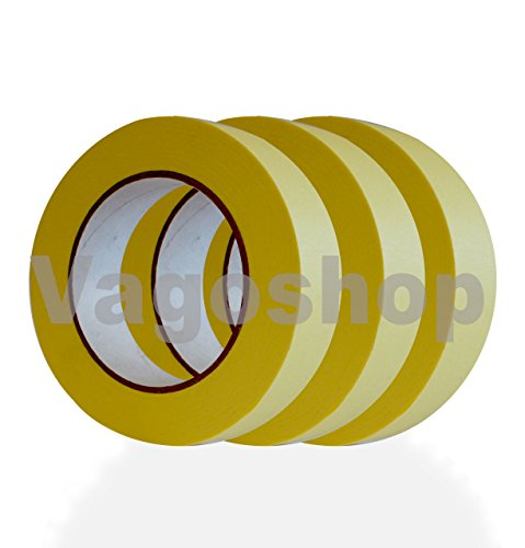 10x Malerkrepp Abdeckband Kreppband Malerband 50mm x 50m Klebeband Malerbedarf