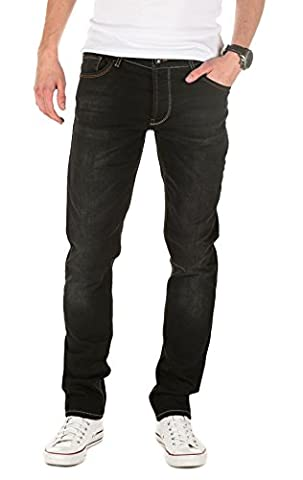 Yazubi Jeans Homme Edvin - Slim Fit - Jean Homme Vetement Denim, Noir (Black Stone 301), W32/L30
