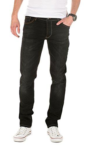 Yazubi Herren Jeans, Modell Edvin, Slim Fit, Schwarz (BLACK STONE 301), W32/L34