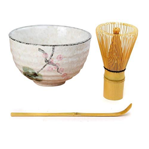Tetera Ceremonia Matcha de cerámica de bambú para té o té Matcha Whisk té Ceremonia regalo para ceremonia tradicional japonesa de té o uso diario Lotus