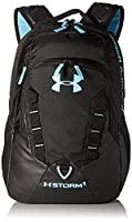 Under Armour 2017 UA Recruit Backpack Rucksack - Black/Blue Infinity