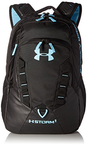 Mochila Under Armour, Storm Recuit - 1261825, Talla única, Black (007)/Blue Infinity