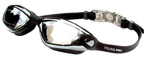 Gafas de natación con tecnología antivaho unisex, color negro y gris 2353-X