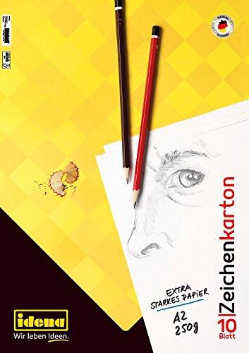 Idena 10386 Zeichenkarton FSC-Mix, A2, 10 Bogen, 250 g/m²