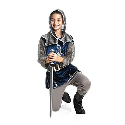 Kostümplanet® Ritter-Kostüm Kinder Jungen + Stiefel-Stulpen Faschingskostüm Größe 116 (Ritter Kostüm Zubehör)