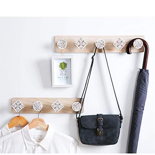 Hölzerne Kleiderbügel Aus Holz Geschnitzt, Kleiderhaken, Der Kleidung, Haken, Handtücher, Hölzernen Wände,Nordischen Stil 5 Haken -
