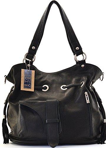 OH MY BAG Sac à Main femme en cuir souple porté main, épaule et bandoulière Modèle Champs-Elysées Nouvelle collection - SOLDES