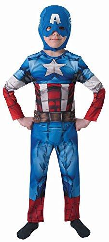 Marvel Avengers Kinder Kostüm Captain America Classic Gr.L(7-8J.) (Captain America Classic Kind Kostüm)