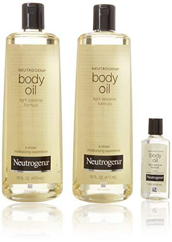 Neutrogena Body Oil (Neutrogena Body Oil, Light Sesame Formula, 16 Ounce (Pack of 2) by Neutrogena)