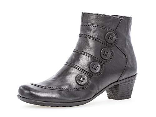 Gabor Damen Ankle Boots 34.691, Frauen Stiefelette,Stiefel,Halbstiefel,Bootie,knöchelhoch,Reißverschluss,schwarz,41 EU / 7.5 UK