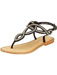 Vero Moda Vmwally Leather Sandal, Spartiates Femme, Noir (Black), 38 EU