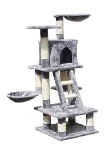 zoomundo 53756842 arbre chat gris animalerie. Black Bedroom Furniture Sets. Home Design Ideas