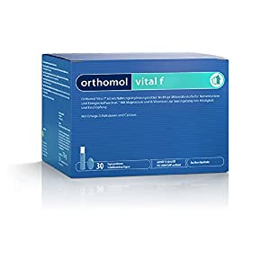 Orthomol vital f 30 Trinkampullen & Kapseln – Vitamin Komplex im Trinkfläschchen für Frauen bei Müdigkeit & Erschöpfung
